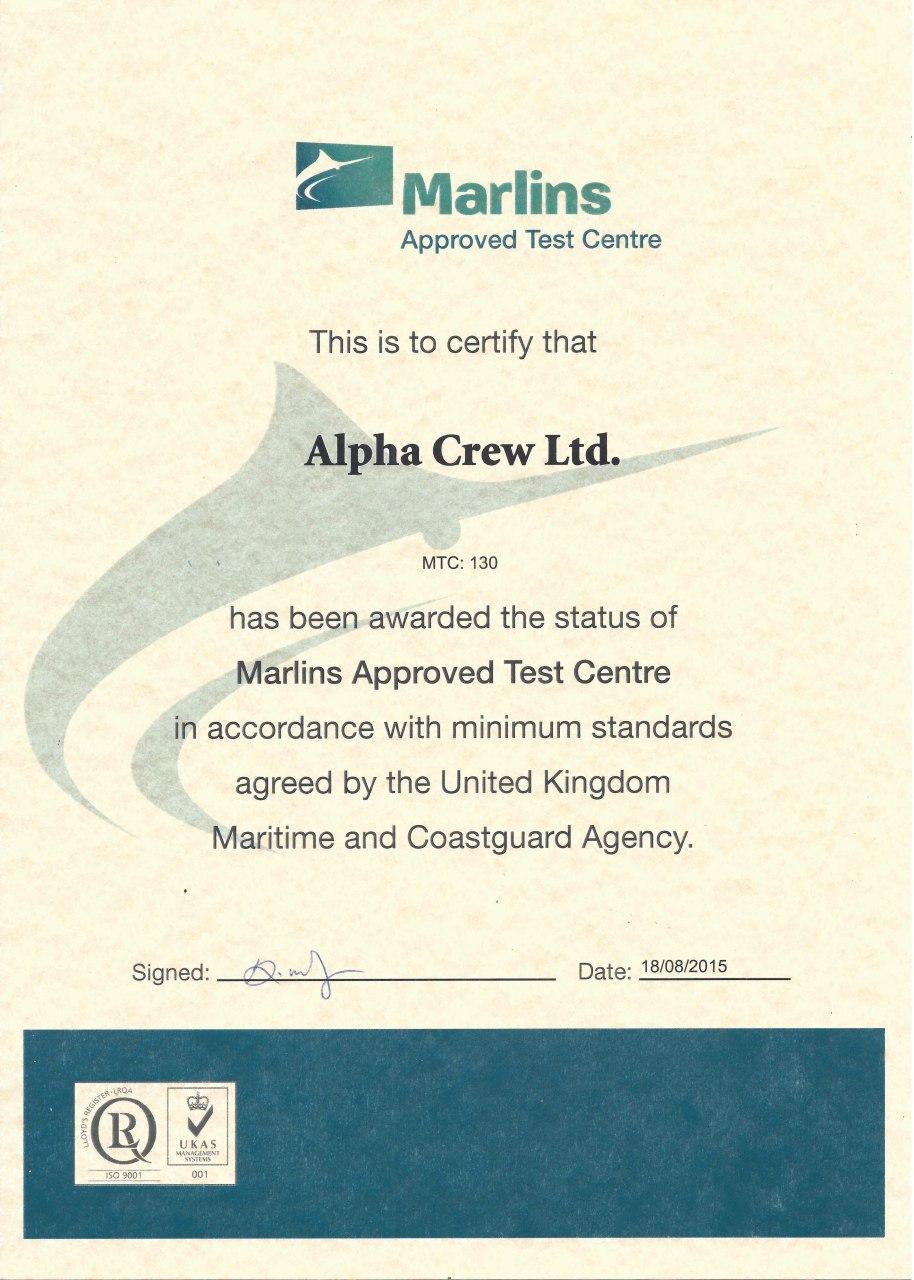 Marlins test | Alpha Crew Group - Marine Manning Agency